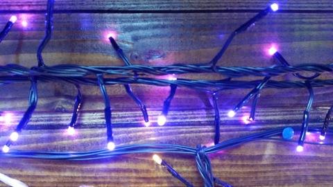 Светодиодная гирдянда домашняя нить 7м 384LED фиолетовый