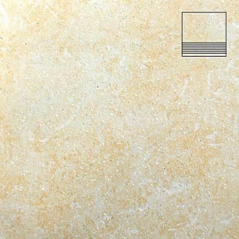 Stroeher - Keraplatte Roccia 833 corda 300x294x10 артикул 8131 - Клинкерная ступень с насечками без угла