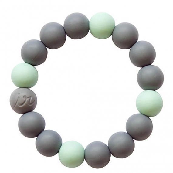 Силиконовый браслет Itzy Ritzy Round Bead Mint
