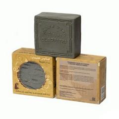 Мыло алеппское оливковое в картонной коробке с круглыми отверстиями МАСЛО ЧЁРНОГО ТМИНА, 150g ТМ Клеопатра
