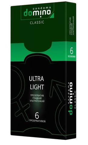 Супертонкие презервативы DOMINO Ultra Light - 6 шт.