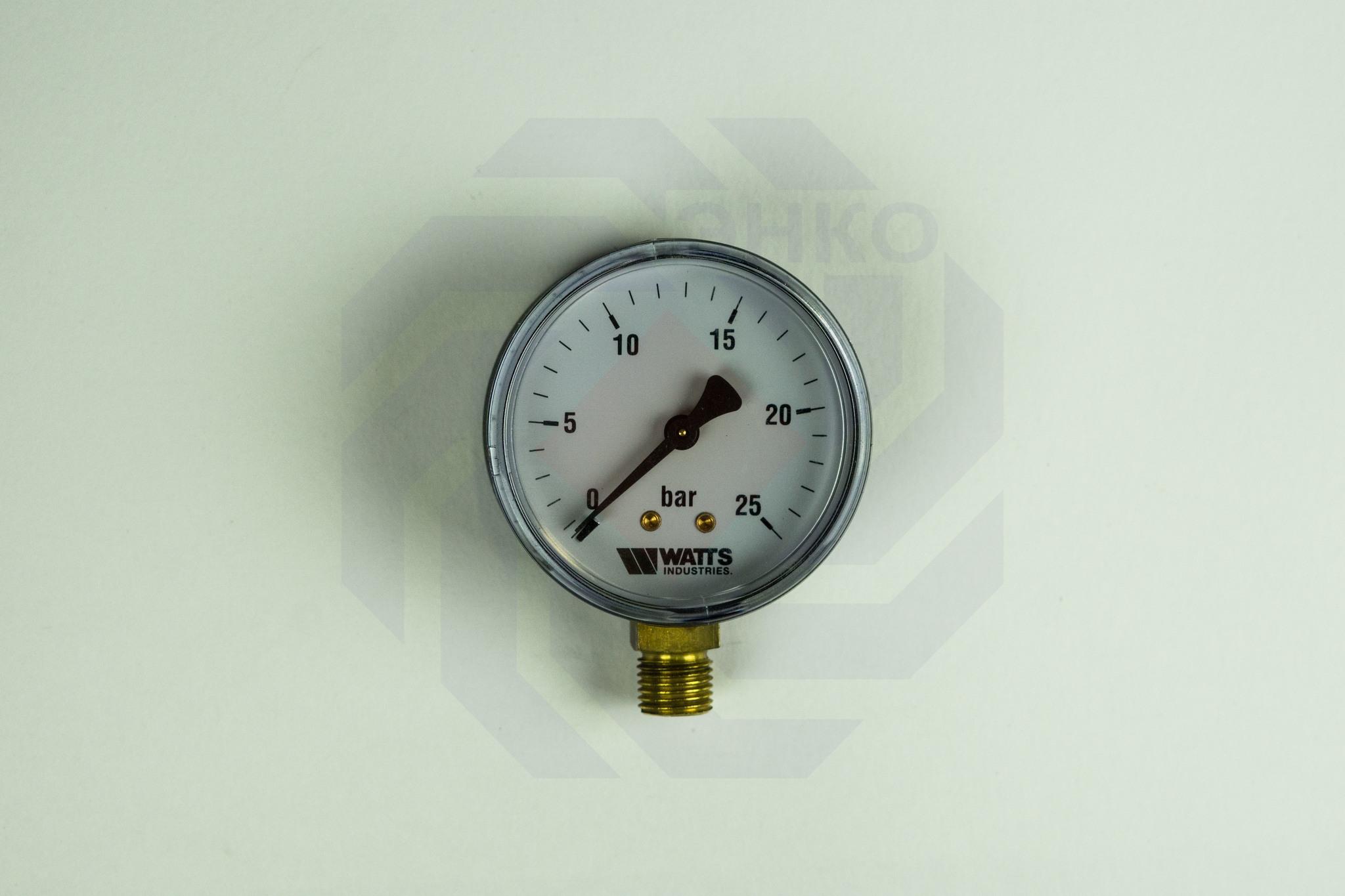 Манометр радиальный WATTS MDR 63/25 (F+R200) 0-25 бар 63 мм ¼