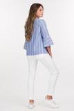 Блузка для беременных 08607 голубой