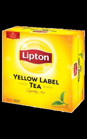 Чай черный Lipton Yellow label в пакетиках, 100 шт