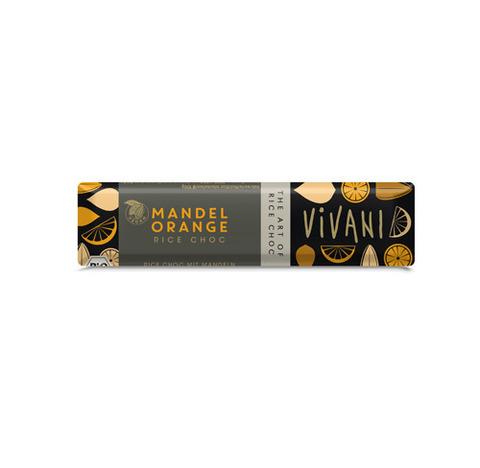 VIVANI Шоколад на рисовом молоке с апельсином и миндалем, Vivani 35 г