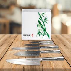 Набор ножей Samura BAMBOO и подставка KBH-101BW