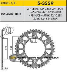 Звезда задняя ведомая Sunstar Rear Sproket 5-3559-44 для мотоцикла Honda