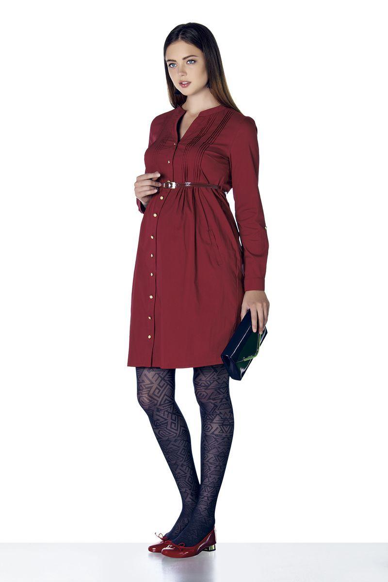 Фото платье для беременных EBRU, приталенное от магазина СкороМама, красный, размеры.