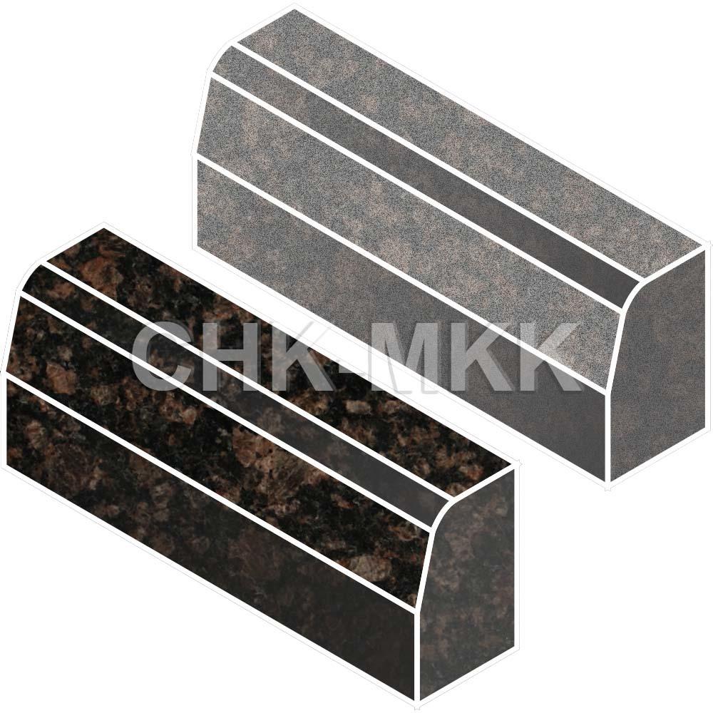 Бордюрный камень из Балтийского (Елизовского, Дымовского) гранита