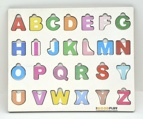 Алфавит английский деревянный