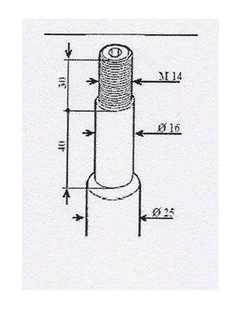 Размеры штока амортизатора БМВ Е34 TA Technix