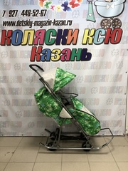 Санки коляска GALAXY KIDS 1-1 «скандинавия - ёлки»