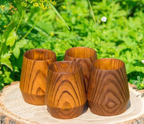 Набор стопок из дерева «Сибирская сосна»