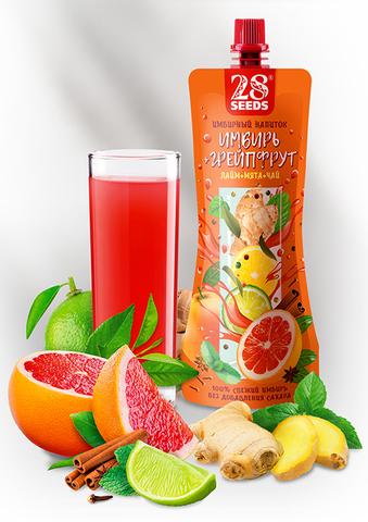 Имбирный напиток «Имбирь + Грейпфрут» без сахара, 250 г