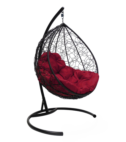 Кресло подвесное Lagos black/burgundy МРК