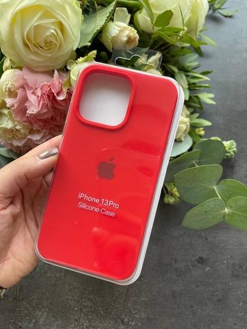 Чехол iPhone 13 Mini Silicone Case Full /red/