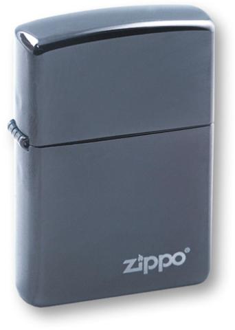 Зажигалка ZIPPO Classic Black Ice® Логотип Zipoo  ZP-150ZL