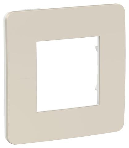 Рамка на 1 пост. Цвет Шампань/белый. Schneider Electric Unica Studio. NU280224