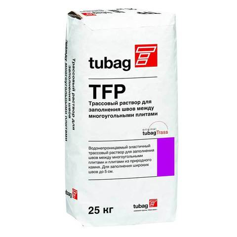 Quick-Mix TFP, тёмно-коричневый, мешок 25 кг - Затирка / Трассовый раствор для заполнения швов многоугольных плит