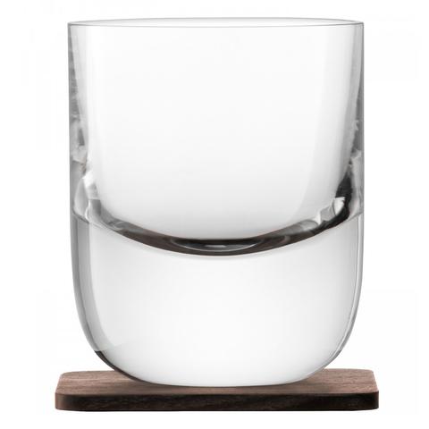 Набор из 2 стаканов Renfrew Whisky с деревянными подставками  270 мл