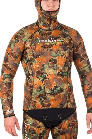 Гидрокостюм Marlin Sarmat Eco Brown 9 мм куртка – 88003332291 изображение 4