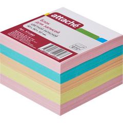Блок для записей Attache 90x90x50 мм разноцветный (плотность 80 г/кв.м)