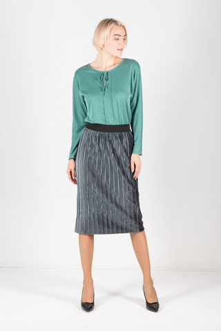 Фото юбка-плиссе из бархатной ткани с резинкой на поясе - Юбка Б115-101 (1)