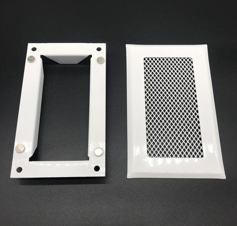 Решетка приточно-вытяжная с фланцем на магнитах 120х60 мм стальная
