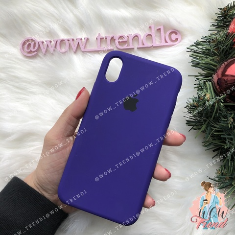 Чехол iPhone X/XS Silicone Case /ultra violet/ ультрафиолет 1:1