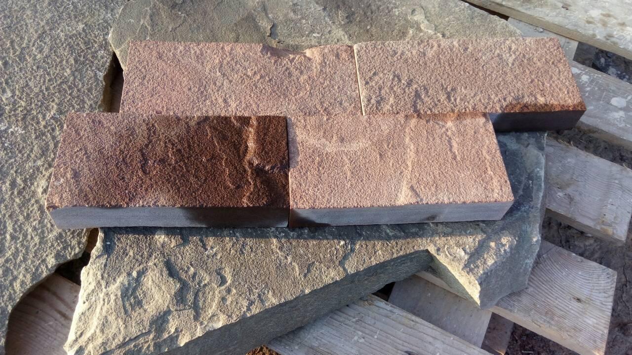 Брусчатка песчаник пиленный Терракот (красный) пример
