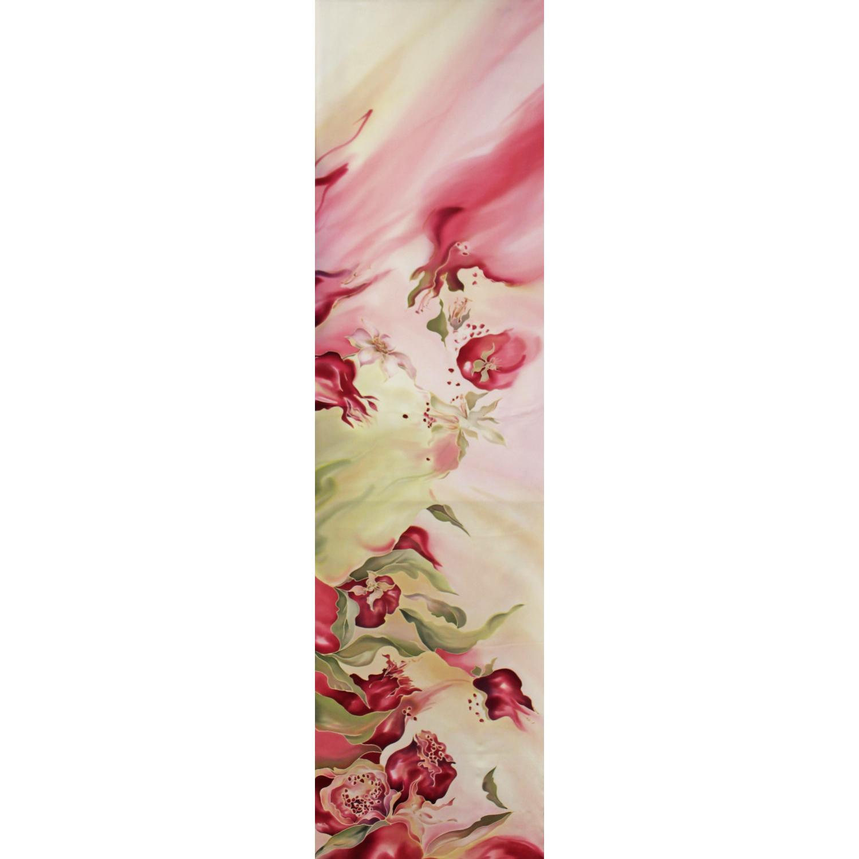 Шелковый шарф батик Гранаты