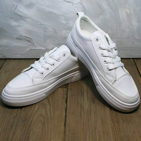 Туфли кроссовки женские El Passo 820 All White.
