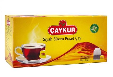Пакетированный турецкий черный чай, Çaykur, 25 пакетов