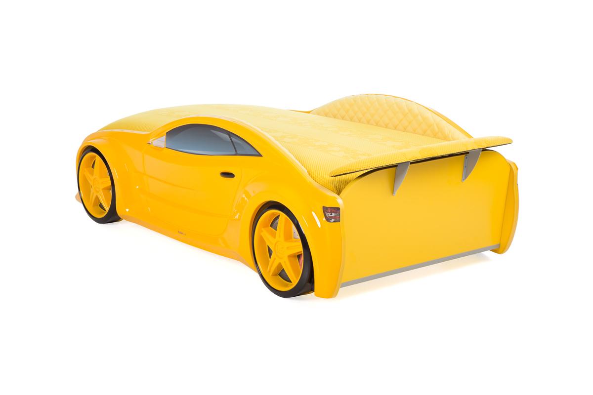 """Кровать-машина объемная NEO """"БМВ"""" жёлтый"""