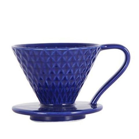 Воронка-пуровер для кофе Mojae 02 керамическая, синяя