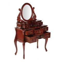 Туалетный столик с зеркалом WA 016 (MK-2462-AN) Вишня