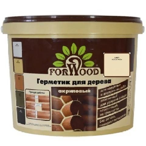 Forwood герметик  для дерева и бетона акриловый для наружных и внутренних работ цвет сосна 14кг вд-ак 1501