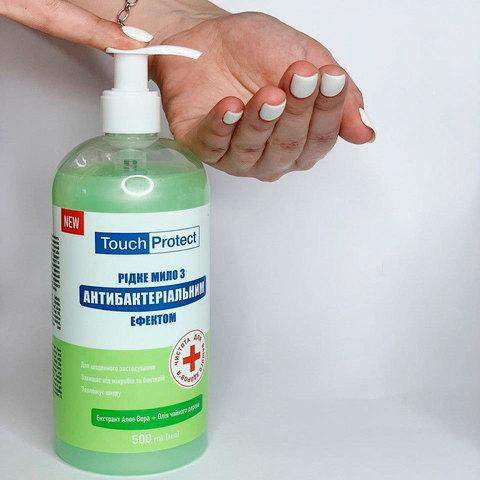 Рідке мило з антибактеріальним ефектом Алое вера-Чайне дерево Touch Protect 500 мл (2)