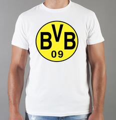 Футболка с принтом FC Borussia Dortmund (ФК Боруссия) белая 003