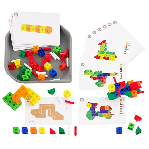 Набор FunPlay Конструктор соединяющиеся кубики с карточками