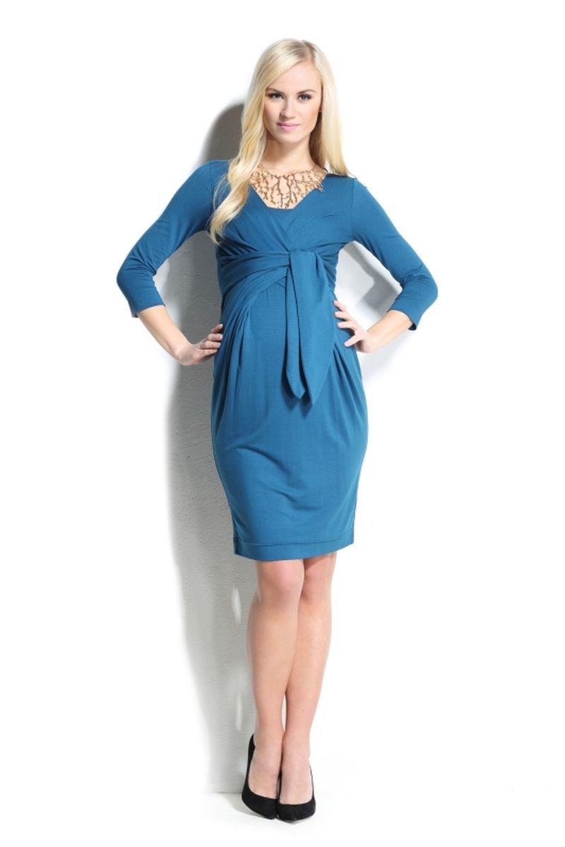Платье для беременных и кормящих 05407 синий