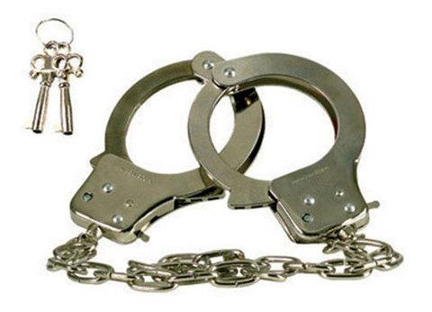 Металлические наручники с 2 ключами Chrome Hand Cuffs