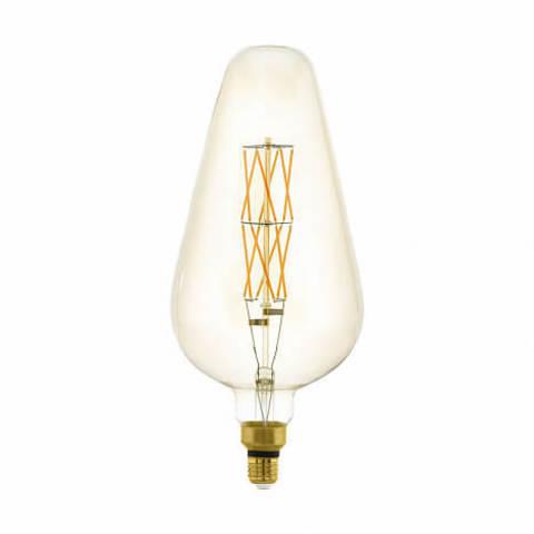 Лампа LED филаментная диммир. янтарного цвета Eglo BIG SIZE LM-LED-E27 8W 600Lm 2100K D165 11838