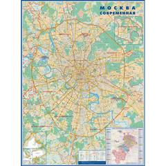Настенная карта Москвы с каждым домом 1:34 000