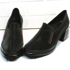Удобные красивые туфли для женщин 40 лет демисезонные H&G BEM 167 10B-Black.