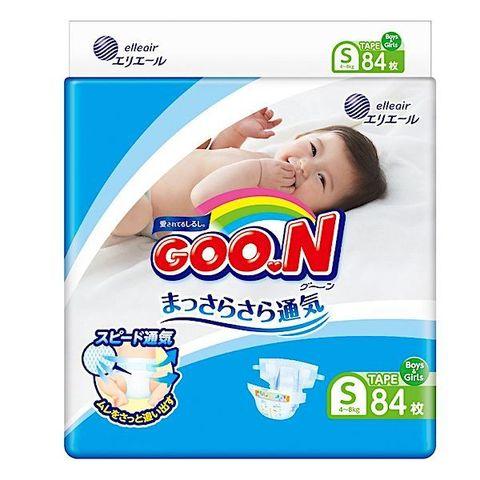 GOON. Подгузники для детей S 4-8 кг, 1уп./84 шт.