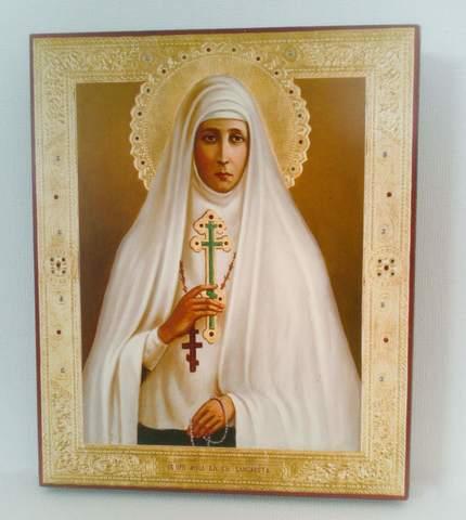 Икона святая Елизавета Федоровна Романова на дереве на левкасе