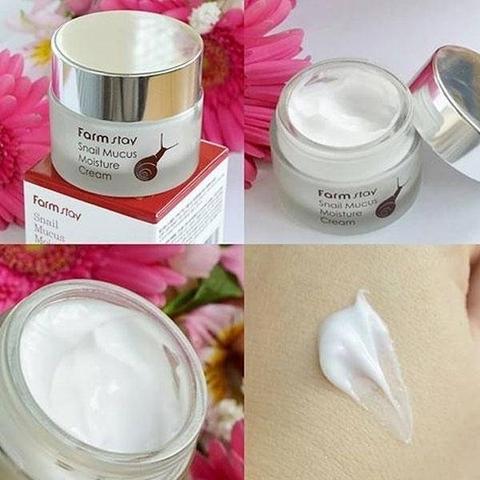 Увлажняющий крем с муцином улитки FARMSTAY Snail Mucus Moisture Cream
