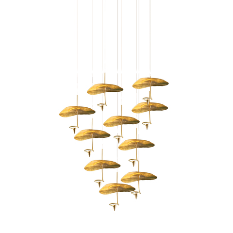 Подвесной светильник копия Gold Moon by Catellani & Smith (10 плафонов)