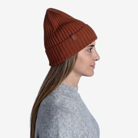 Вязаная шерстяная шапка Buff Hat Wool Knitted Norval Rusty фото 2